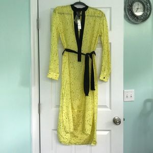 NWT Proenza Schouler Fringe Shirt Dress